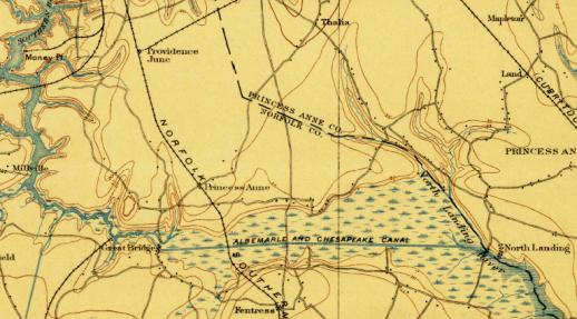 Virginia Cut, Albemarle & Chesapeake Canal, U.S. Geological Survey (1902).
