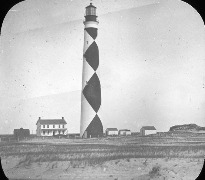 Cape Lookout Lighthouse, Cape Lookout, N.C., ca. 1900. Image by Albert Ross, USN. Courtesy, Linda Garey