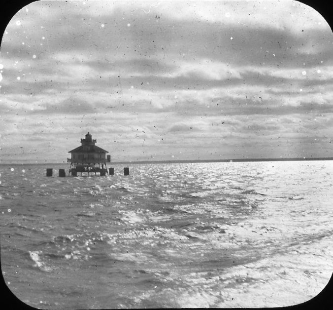 Laurel Point Lighthouse, Albemarle Sound, N.C., ca. 1900. Image by Albert Ross, USN. Courtesy, Patricia Garey