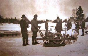 Cutting ice, Islesboro, Maine, ca. 1920. Courtesy, Islesboro Historical Society