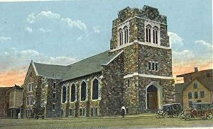 Post card of the United Baptist Church, Lewiston, Maine, built in 1921. John H. Nichols was an active member at the church.