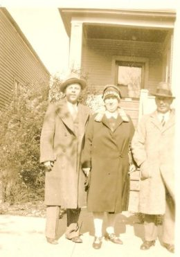 Art Arneburg (left), Martha Nielsen Arneburg and Einar Nielson. Martha was Einar, Tom and Peter Neilsen's sister, and Art was her adopted son. Photo courtesy of Tom Miller, Beaufort, N.C.