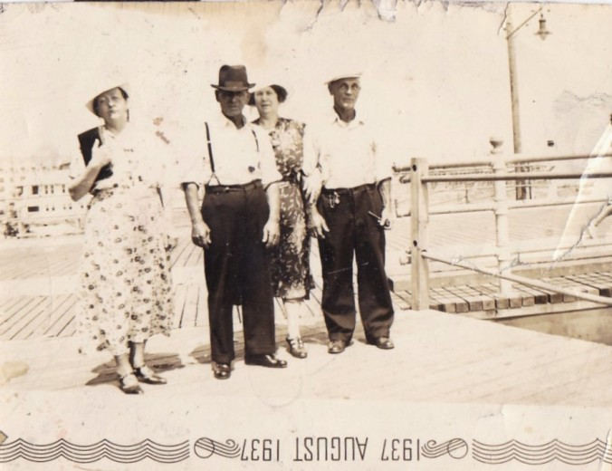 Hulda, Einar, Martha and Thomas Nielsen (left to right), summer of 1937. Hulda (left) and Martha were their sisters. Courtesy, Tom Miller, Beaufort, N.C.