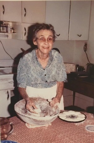 Mrs. Beatrice Mason (Miss Beadie) making biscuits like she did everyday, Harlowe, N.C. Photo courtesy of her family.