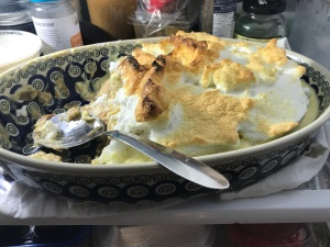 Our friend Perri Morgan's banana pudding. Undeniably the best in the world. In my fridge now, but not for long! Photo by David Cecelski
