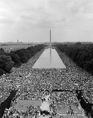 The March on Washington for Jobs and Peace, August 28, 1963. Courtesy, U.S. Marine Corps