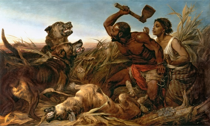 "Richard Ansdell, ""The Hunted Slaves"" (1862). National Museum of African American History & Culture"
