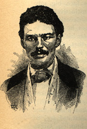 John Anthony Copeland, Jr. (1834-1859). Apparently a newspaper drawing made during his trial in 1859.