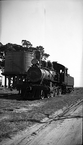The Wilmington, Brunswick & Southern RR ran between Southport and Navassa (west of Wilmington) between 1911 and 1941. Photo by Charles A. Farrell. Courtesy, State Archives of North Carolina.