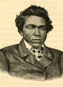 Abraham Galloway (1837-1870), rebel slave, Union spy, civil rights pioneer & state legislator. From William Still, The Underground Railroad (1872).