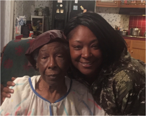 Marion Evans and her grandmother, Goldie Evans. Marion's grandmother passed away just last year at the age of 101. Courtesy, Marion Evans