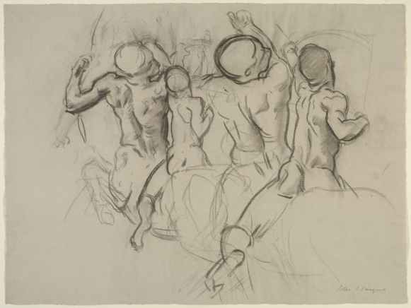 Study for Chiron and Achilles for the Rotunda of the Museum of Fine Arts, Boston (1916–21), John Singer Sargent. Isabella Stewart Gardner Museum, Boston