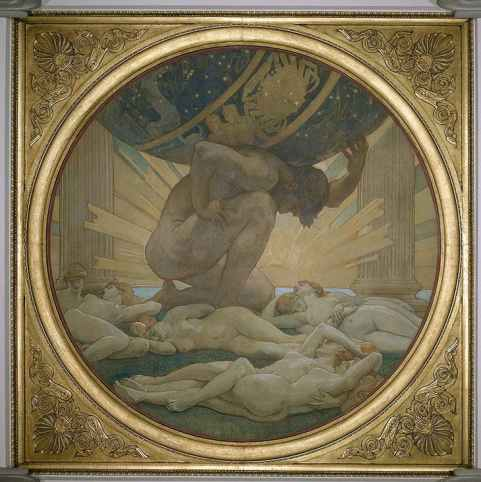 McKeller was the Sargent's model for Atlas in Atlas and the Hesperides (1922-25) at the Museum of Fine Arts, Boston