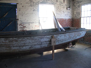 Shad boat on display at the Roanoke Lighthouse and Maritime Museum, Plymouth, N.C. From the NC ECHO Collection, N.C. Digital Collections