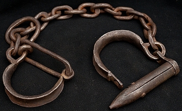 Slave shackles. Courtesy, National Museum of African American History and Culture