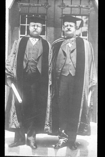Teddy Roosevelt and Russell Coles, Trinity College, Hartford, Conn., June 1918. Courtesy, Walter Coles, Sr. Coles Hill, Va.