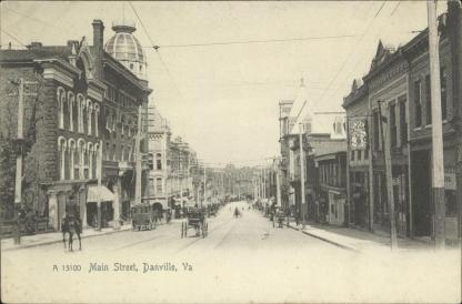 Main Street, Danville, Va. ca. 1890. Courtesy, Danville Historical Society