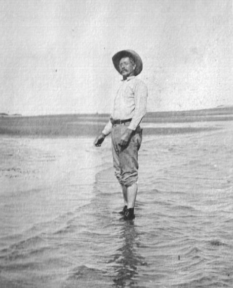Capt. Charlie Willis at Cape Lookout in 1920. He and Russell Coles were very close. Capt. Charlie named one of his children Russell Coles Willis. Photo courtesy of Walter Coles, Sr., Coles Hill, Va.