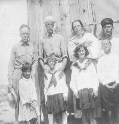 Gifford Pinchot (back row, 2nd from left) and family at Cape Lookout, early 1920s. Courtesy, Walter Coles, Sr., Coles Hill, Va.