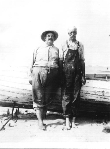 Russell Coles and Gifford Pinchot ca. 1920-22, probably at Cape Lookout, N.C. Courtesy, Walter Coles, Sr., Coles Hill, Va.