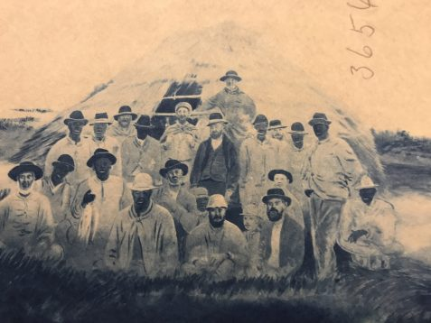 Blueprint of a typical mullet camp crew, Shackleford Banks, N.C., ca. 1880. From U.S. Fish Commission Records, Archives Center, American Museum of History