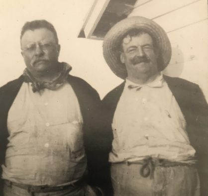 Teddy Roosevelt and Coles in Florida, 1917. Photo courtesy, Walter Coles, Sr., Chatham, Va.