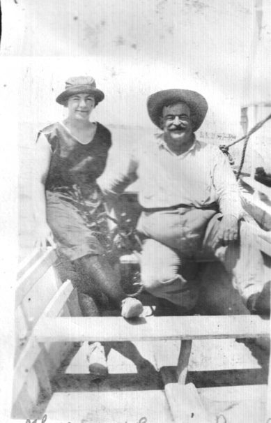 Russell Coles and his cousin Theresa Ambler, summer of 1920. Courtesy, Walter Coles, Sr., Coles Hill, Va.