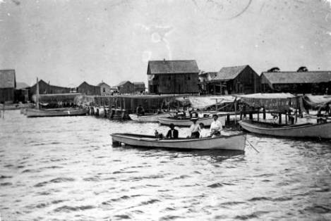 Cortez, Florida, in the early 20th century. Courtesy, Manatee County Public Library System