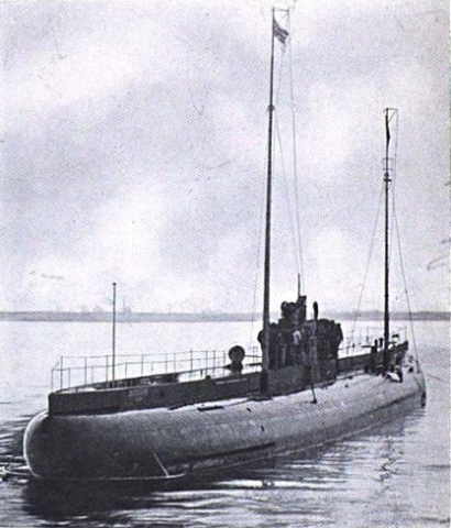 The German submarine Deutschland ca. 1916. From Journal of the United States Artillery vol. 46 (1916)