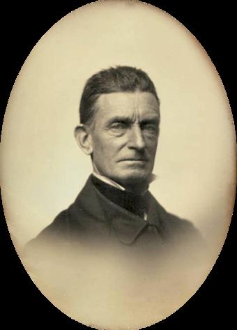 John Brown in 1856. Courtesy, Massachusetts Historical Society