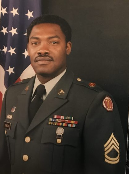 Sgt. First Class Chris Johnson of Ernul, N.C. during his service in the U.S. Army.