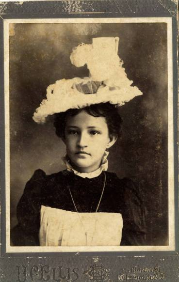 We don't know much about Bertha Barlow. She was living with her mother and was a weaver in 1897, married a Mr. Barlow, moved to Charlotte and died of pneumonia at the age of 36-- and we know she had soulful eyes. Courtesy, New Hanover County Public Library, NC Room. Identifier #00.321