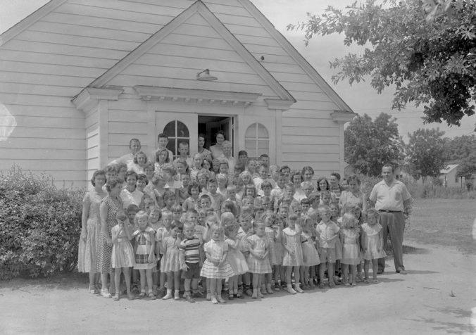 Summer Bible school, 1957. Courtesy, Joyner Library, ECU