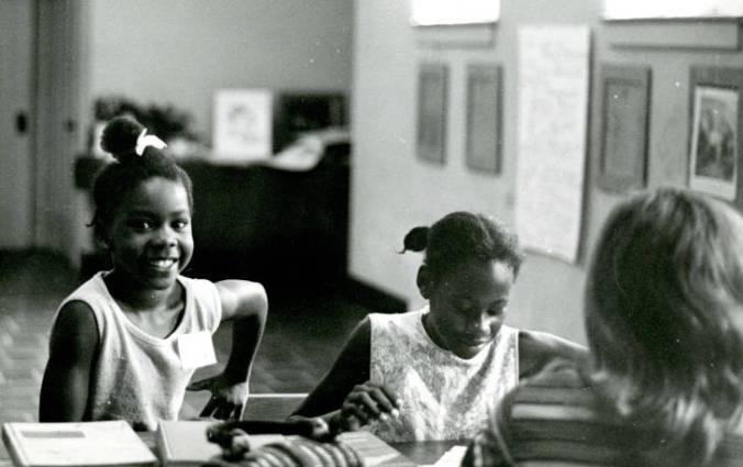 Children at a summer tutoring program at St. Luke AME Zion Church in Wilmington, 1970. Courtesy, New Hanover Co. Public Library, NC Room. Identifier #00.421