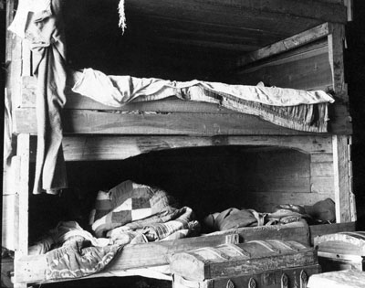 Barn Slue (or Barney Slough) fish camp. Photo by H. H. Brimley, ca. 1905. Courtesy, State Archives of North Carolina