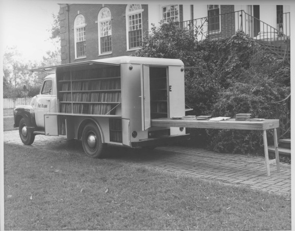 Bookmobile, Wilson County Public Library, Wilson, N.C., undated. From Hackney Body Co. Collection. Courtesy, NC Collection, Barton College