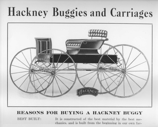 Hackney buggies and carriages ad, late 1800s. Courtesy, NC Collection, Barton College