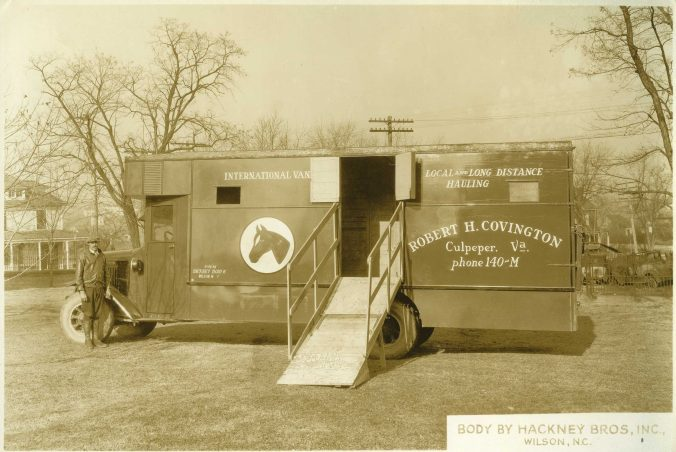 Hackney-built horse hauling truck, undated (1920s-30s). Courtesy, NC Collection, Barton College