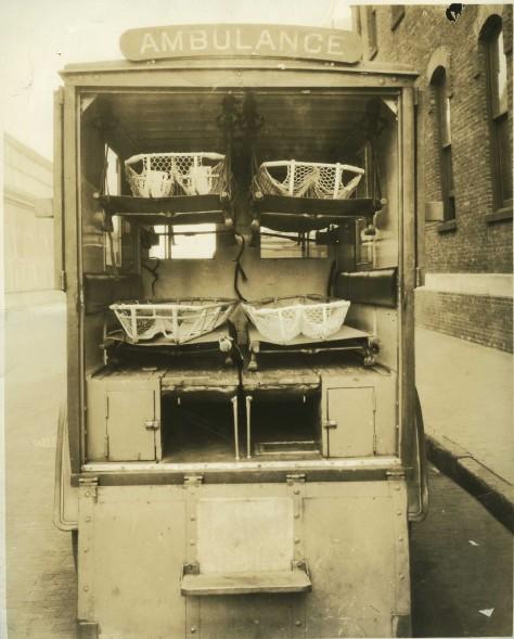 Hackney ambulance, undated (probably 1930s). Courtesy, North Carolina Collection at Barton College