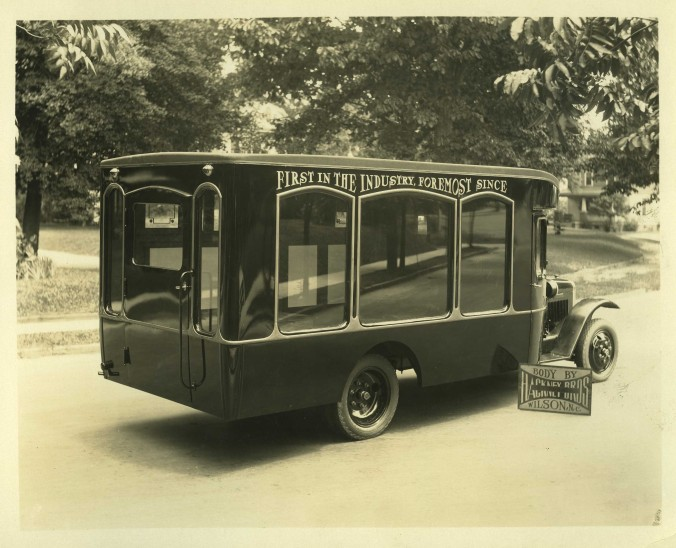 A Hackney-built hearse, 1930s. Courtesy, NC Collection, Barton College