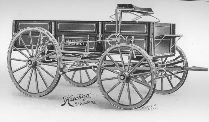 Hackney dairy, delivery and parcel post wagon, late 1800s. Courtesy, NC Collection, Barton College