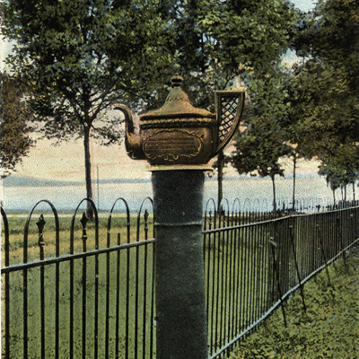Postcard of the Edenton Teapot, early 20th century. From Durwood Barbour Collection of North Carolina Postcards (PO77), North Carolina Collection Photographic Archives, The Wilson Library, University of North Carolina at Chapel Hill