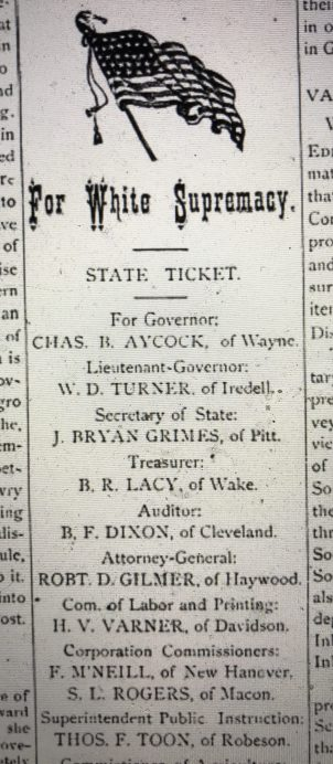 The announcement also included the Democratic Party's candidates for statewide office. From The Eastern Courier, June 1900.