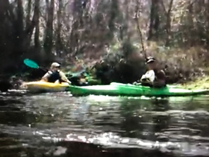 """For years storms and debris had made the Coharie unnavigable, but now kayakers and canoeists can paddle, hunt and fish on the river. From """"The Coharie Tribe: Soil, Sorghum and Sovereignty"""""""