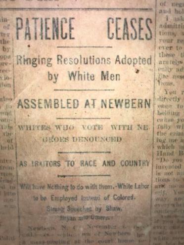 Raleigh News & Observer, 5 Nov. 1898.