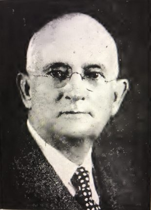 """Alfred Decator Ward, ca. 1930. In New Bern he was the law partner of Furnifold Simmons, the self-avowed """"Chieftain of White Supremacy"""" who was one of the state leaders of the white supremacy campaigns in 1898 and 1900. Photo from H.W. Taylor, History of Alfred and Elizabeth Robinson Ward, Their Antecedents and Descendants (1945)"""
