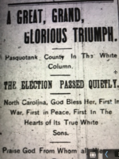 The Weekly Economist (Elizabeth City, N.C.), 11 Nov. 1898
