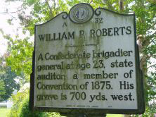 William Paul Roberts is honored by a state historical marker on NC 37. His portrait also hangs in the Gates County Courthouse. Courtesy, NCpedia