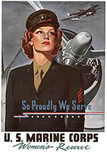U.S. Marine Corps Women's Reserve recruiting poster, ca. 1944. Courtesy, National Archives