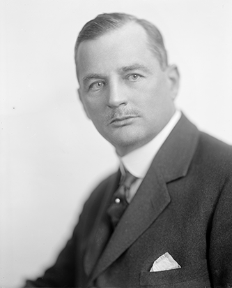 Lumberton White Supremacy Club member Angus W. McLean was elected governor of North Carolina in 1924. He also served as assistant secretary of the Treasury under Pres. Woodrow Wilson. Photo courtesy, Library of Congress